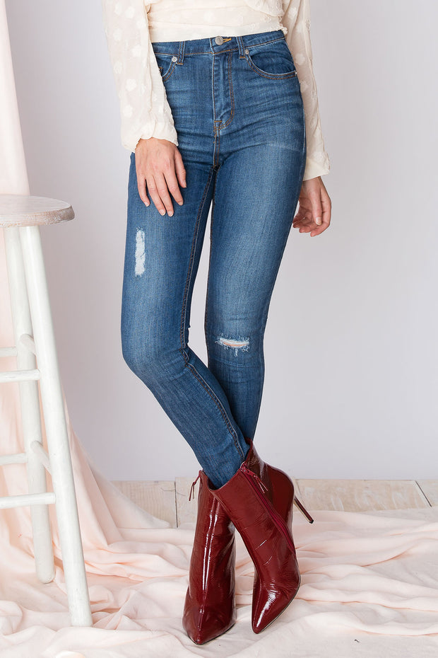 Carine Ripped Skinny Jeans