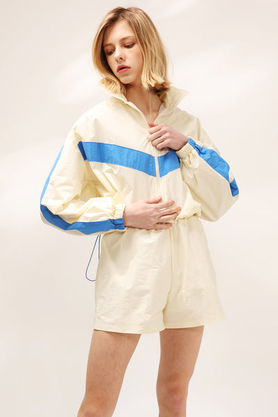storets.com Avery Windbreaker Jacket And Shorts Set