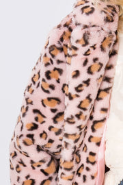 Grace Leopard Faux Fur Coat