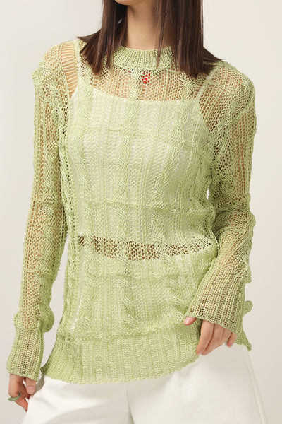storets.com Lillie Cable Crochet Sweater