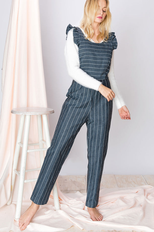 storets.com Zoralie Striped Jumpsuit