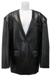 storets.com Jessica Pleather Collarless Jacket