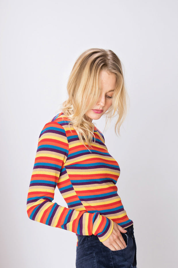 Julie Multi Stripe Knit Top