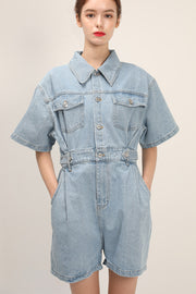 Allison Denim Romper