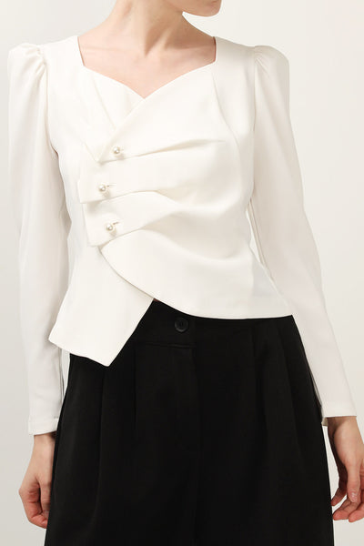 storets.com Charlotte Origami Detail Blouse