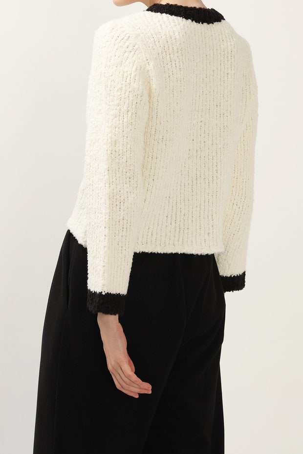 storets.com Eva Color Block Knit Cardigan
