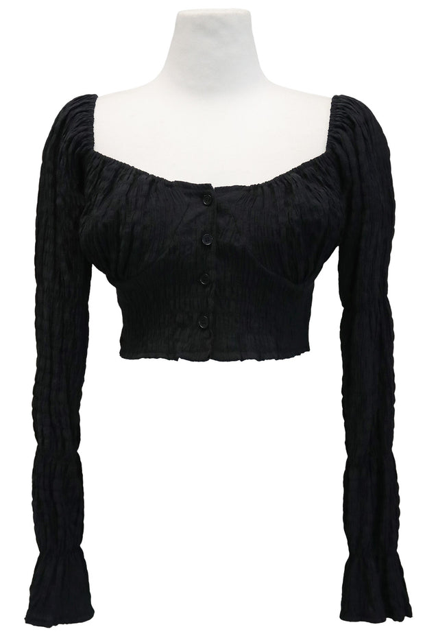 storets.com Lyric Crinkled Off Shoulder Top