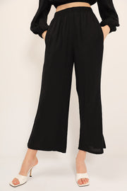 storets.com Iris Puffed Top And Wide Pants Set
