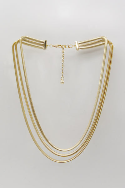 storets.com Triple Snake Chain Necklace