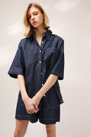 Chloe Boyfriend Fit Denim Shirt