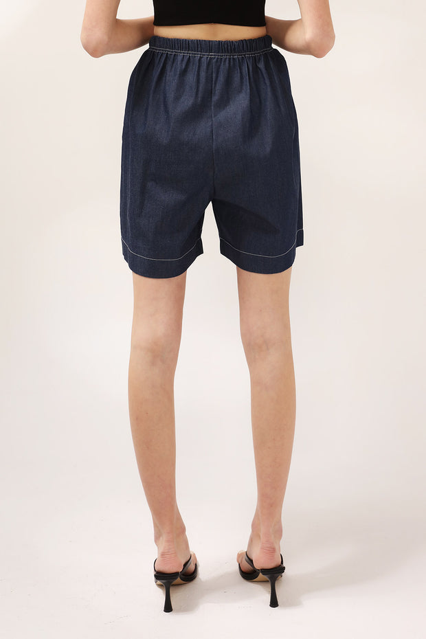 storets.com Chloe Drawstring Denim Shorts
