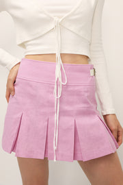 storets.com Kylie Side Tab Pleated Skirt