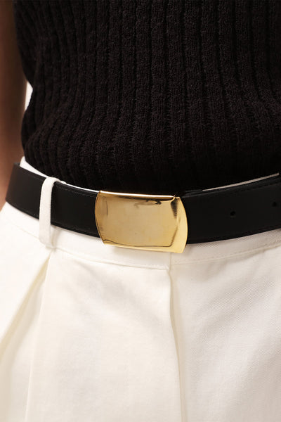 storets.com Golden Buckle Pleather Belt