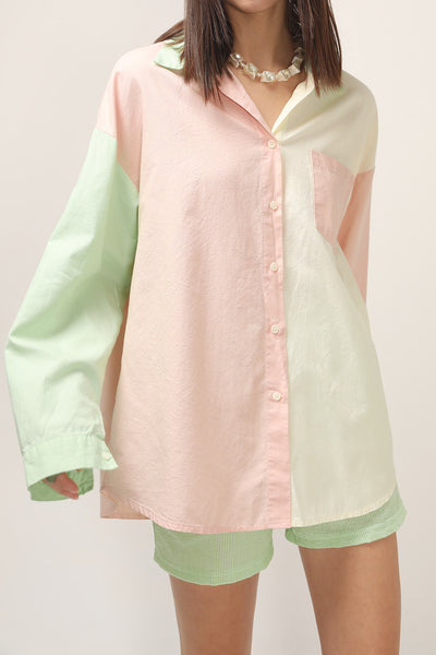 storets.com Kelly Color Block BoyFriend Shirt