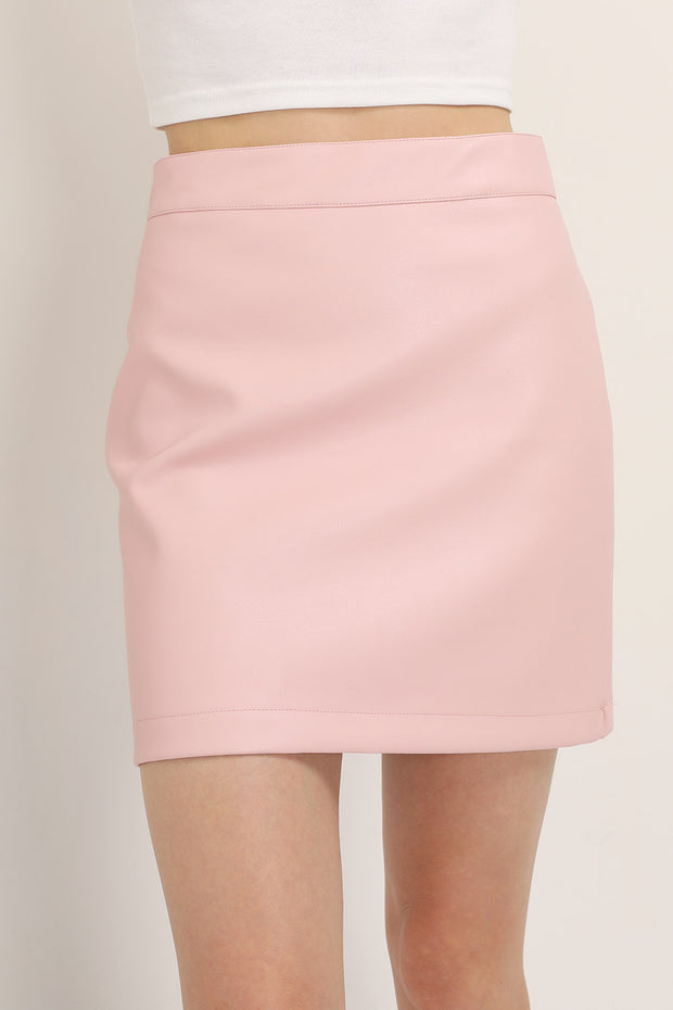 Sadie Pleather Mini Skirt