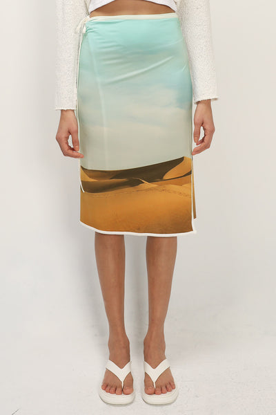 storets.com Logan Printed Wrap Skirt