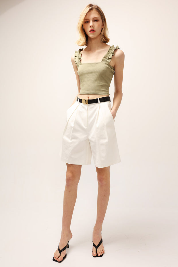 Willow Ruffle Strap Crop Top