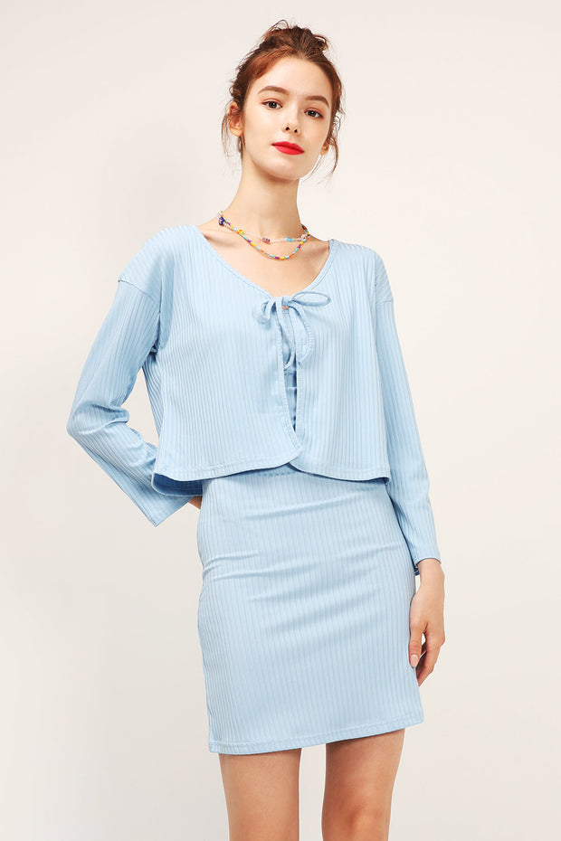 storets.com Mina Ribbed Dress 2-Piece Set
