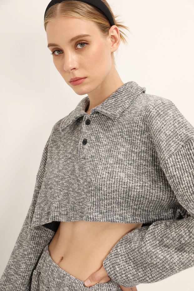 Alice Ribbed Crop Shirt