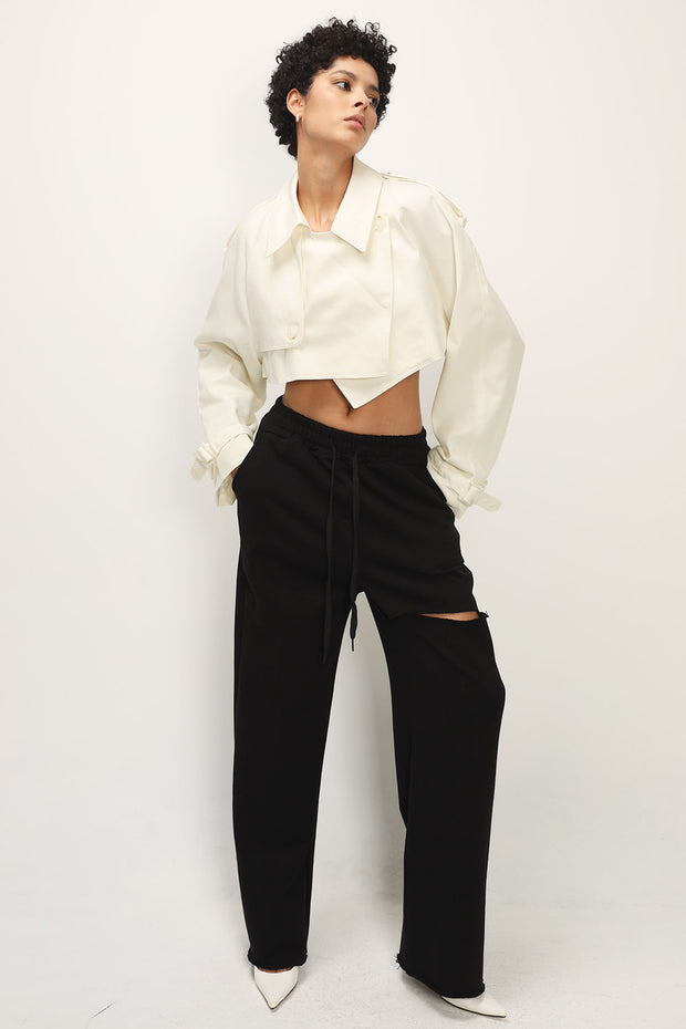 storets.com Maggie Trench Detail Cropped Jacket