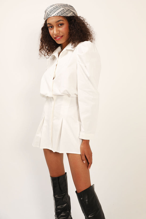 storets.com Eliza Structured Puff Sleeve Shirt