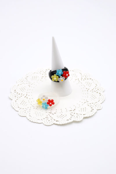 storets.com Flower Bubble Acrylic Ring