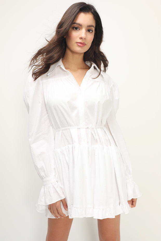 storets.com Ryan Tiered Shirt Dress