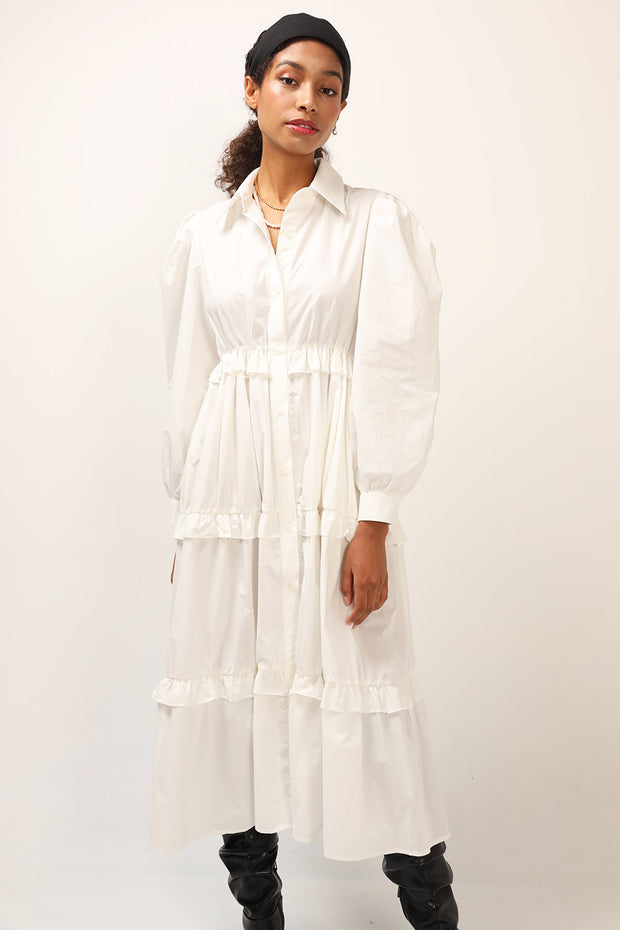 storets.com Lily Tiered Shirt Dress