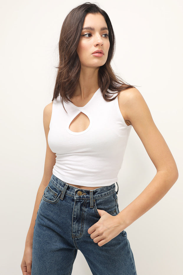 storets.com Poppy Cutout Tank Top