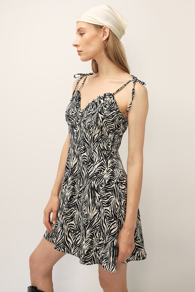 storets.com Hazel Zebra Printed Dress