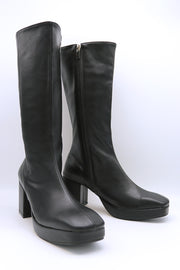 Pleather Zip Up Boots
