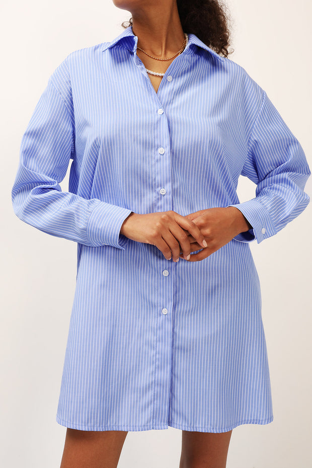 storets.com Charlotte Stripe Shirt Dress