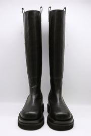 storets.com Chunky Platform Slip On Knee-High Boots