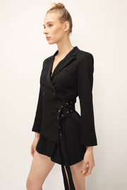 storets.com Evelyn Wrap Belted Jacket Dress