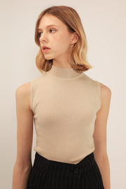 Delaney High Neck Knitted Top