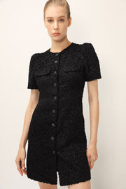 storets.com Edith Buttoned Tweed Dress