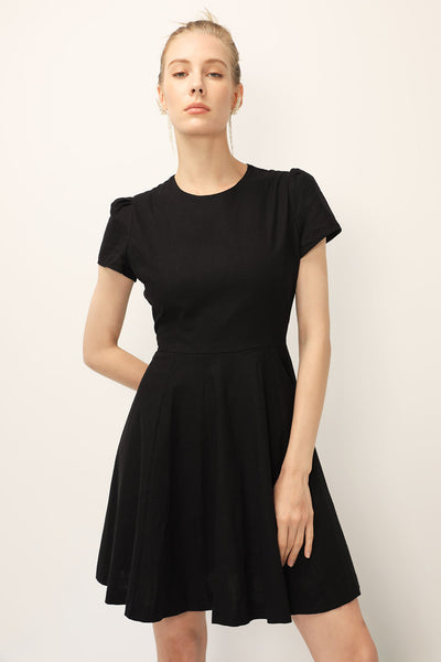 storets.com Kelly Fit & Flare Linen Dress