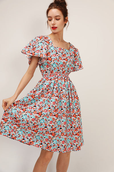 storets.com Stella Tie Back Floral Dress
