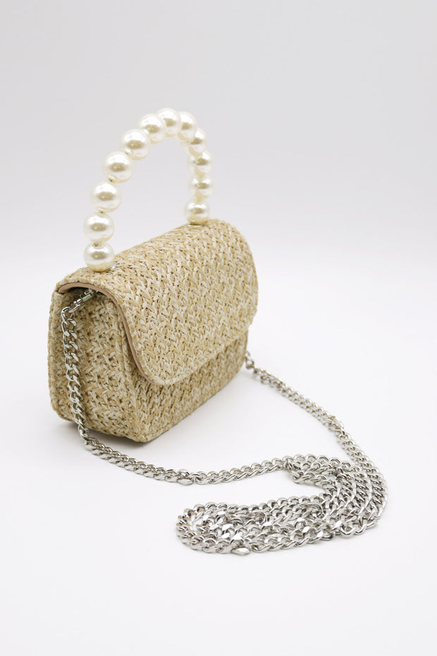 storets.com Pearl Handle Straw Bag-Small