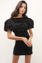 storets.com Daniella Puff Sleeve Ruched Dress