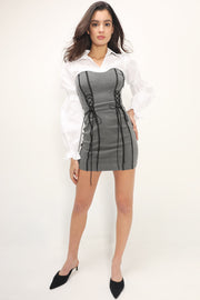 storets.com Collins Eyelet Tube Shirt Dress
