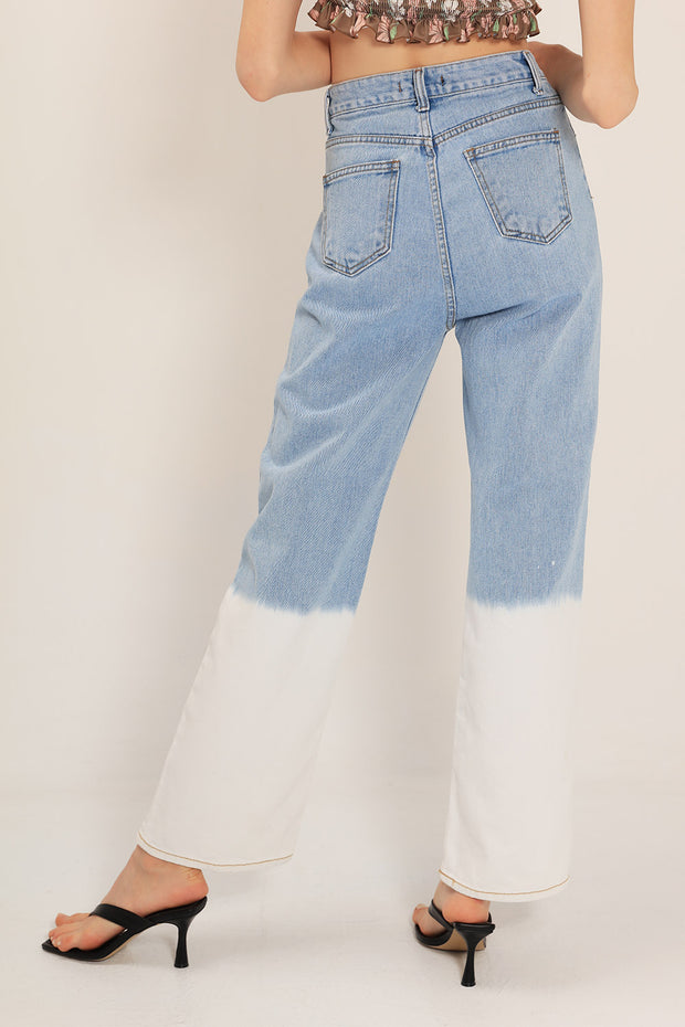 Annie Color Block Jeans