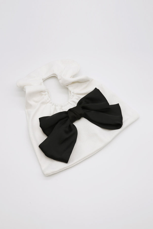 storets.com Ruched Cotton Ribbon Bag