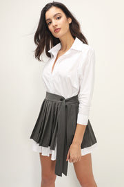 storets.com Bianca Shirt And Skirt Belt Set