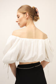 storets.com Sophia Off-the-Shoulder Puffed Top