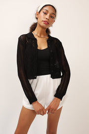 storets.com Aubrey Collar Neck Knitted Cardigan