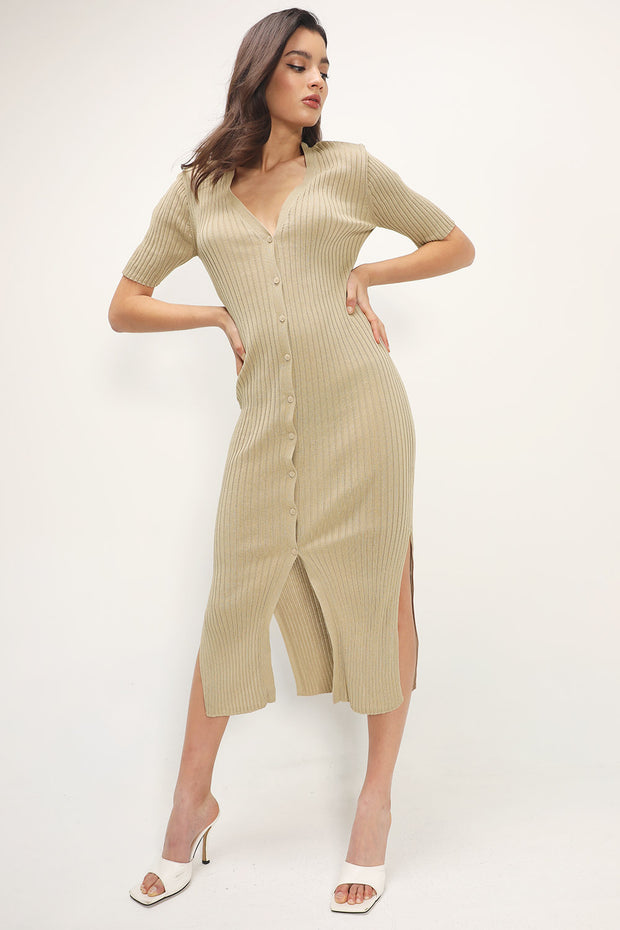 storets.com Anaya Maxi Ribbed Dress