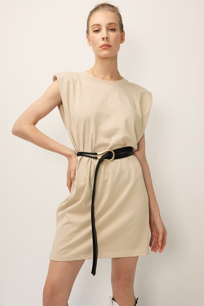 storets.com Kinley Padded Shoulder Muscle Dress