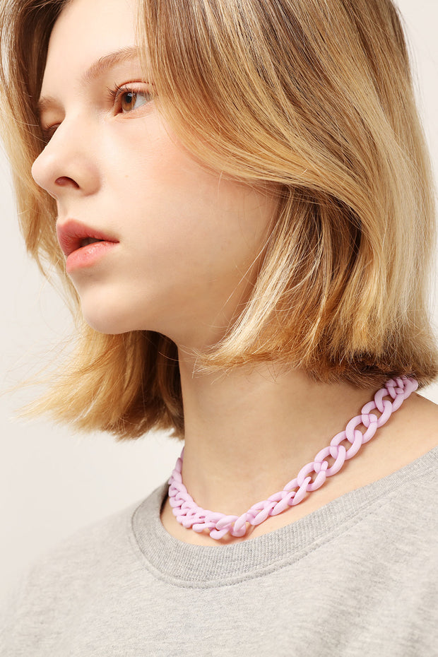 Pastel Acrylic Chain Necklace