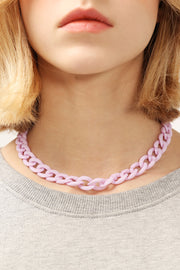 storets.com Pastel Acrylic Chain Necklace